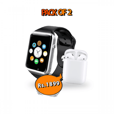Smart Deal of 2 W08 Smart Watch + i7s Handsfree - Paksa Pk