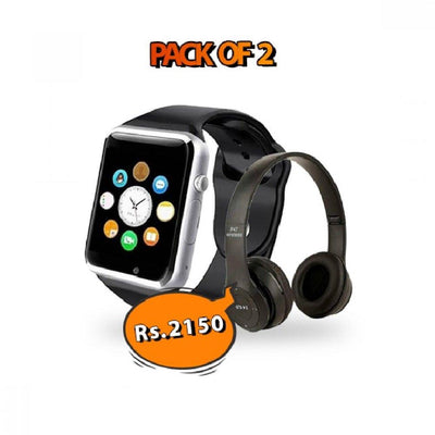 Cool Deal - W08 Smartwatch + Beats P47 Headphones - Paksa Pk