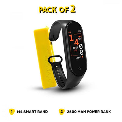 Smart Deal–M4 Smart Band & 2600mAh Power Bank Bundle - Paksa Pk