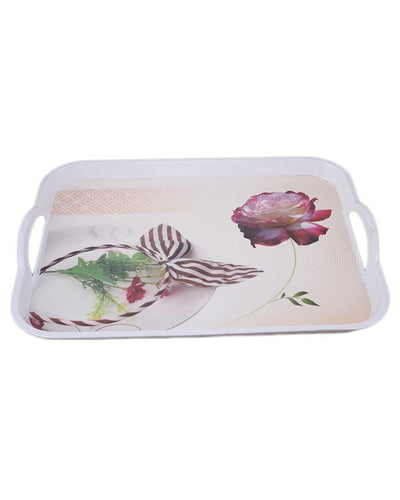 Pantry Melamine Serving Tray With Handles - Paksa Pk