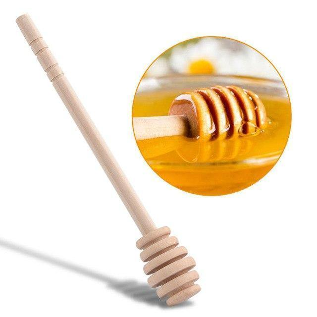 Wooden Honey Spoon Dipper Mixing Stick-8cm