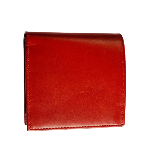 Milano Red Leather Wallet with Cash, Card and Coin Pockets for Men