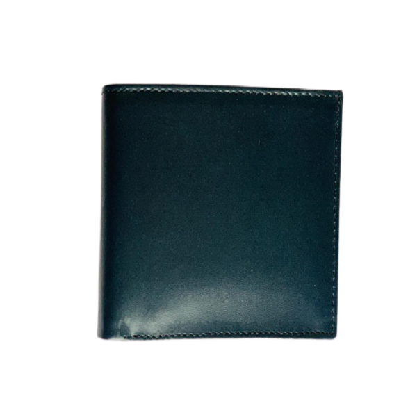 Black Bi-Fold Short Leather Wallet for Men