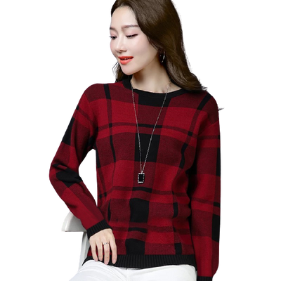 Winter Fleece Check Printed Sweatshirt for Women - Paksa Pk