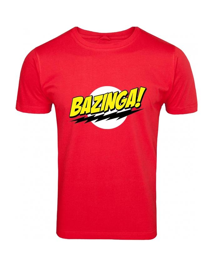 Red Bazinga Printed T-shirt For Men - Paksa Pk