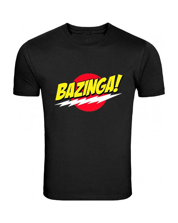 Black Bazinga Printed T-shirt For Men - Paksa Pk