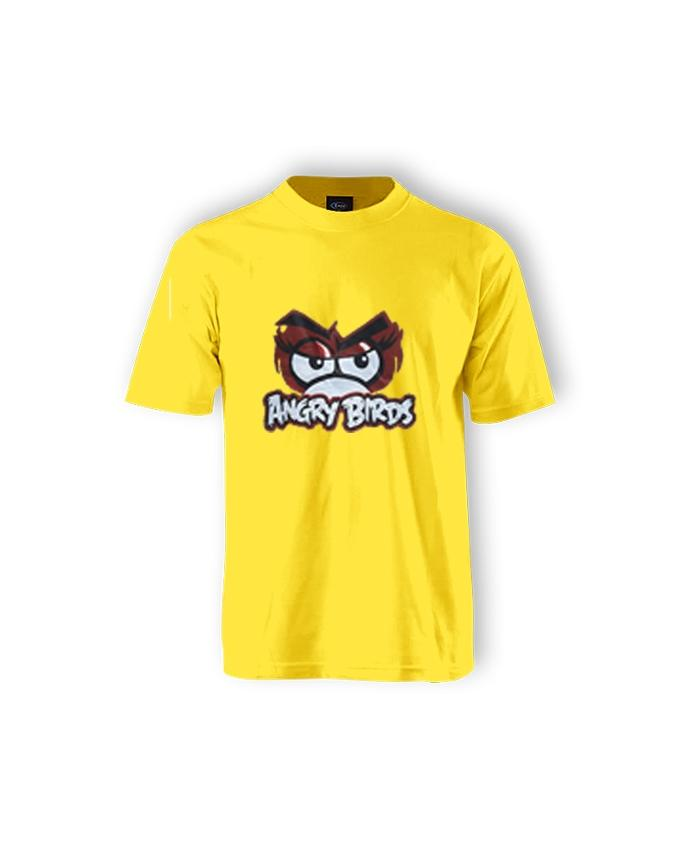 Yellow Angry Birds Printed T-shirt For Men - Paksa Pk