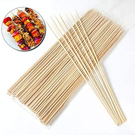 Pack of 40 Wooden Disposable Barbecue Sticks Meat BBQ Tools 8 Inches - Paksa Pk