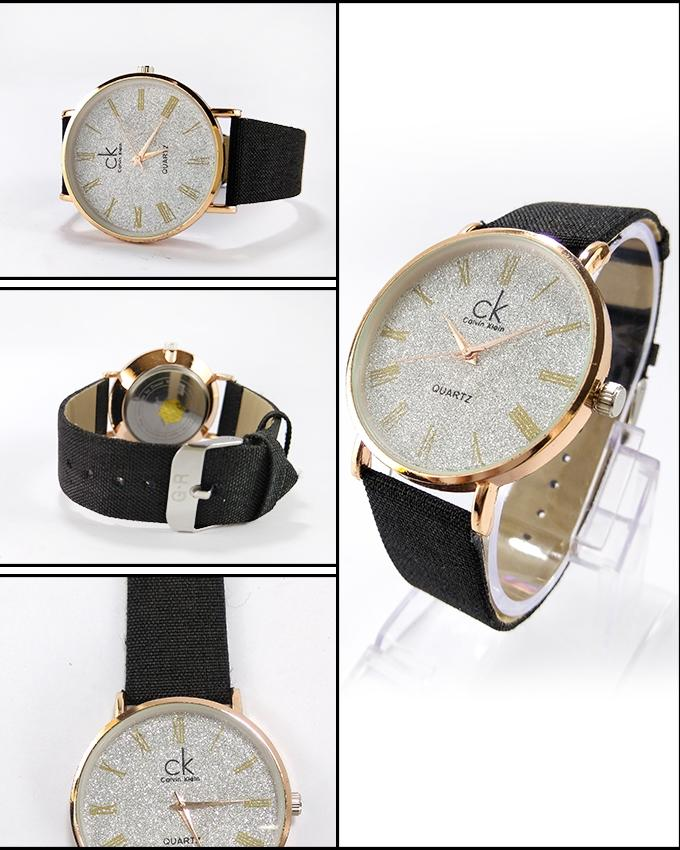 Black Jeans Strap Watch For Men - Paksa Pk