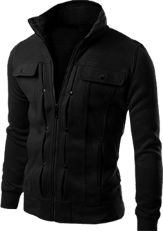 Black Fleece Royal Jacket For Men - Paksa Pk