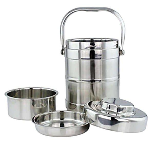 Tiffin Box Stainless Steel Silver - Paksa Pk