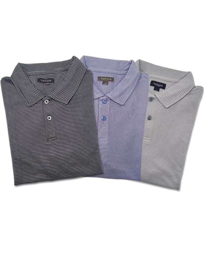 Pack of 3 Lining Polo T-shirts For Men - Paksa Pk