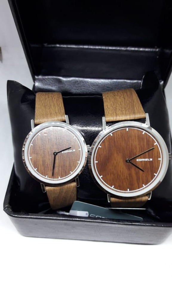 Comely Wooden Stylish Couple Watches - Paksa Pk
