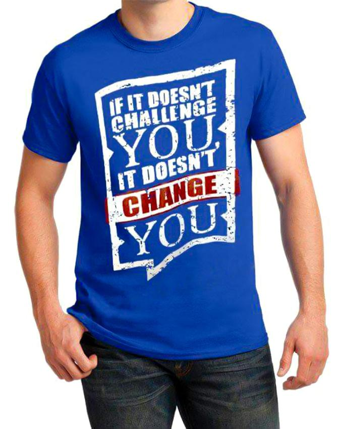 If it Doesn't Challenge Printed T-shirt For Men