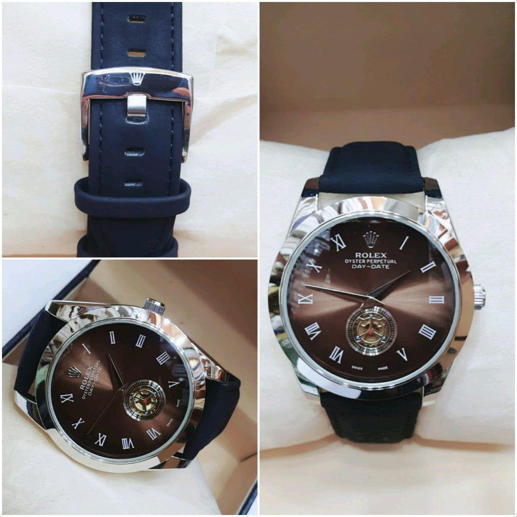 Navy Blue Strap Watch For Men - Paksa Pk