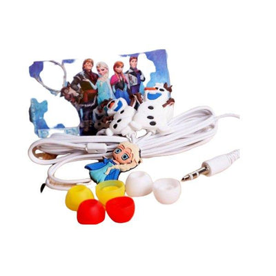 Cartoon Hand free Frozen Ear Phones White - Paksa Pk