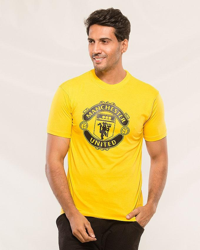Yellow Manchester printed T-shirt For Men