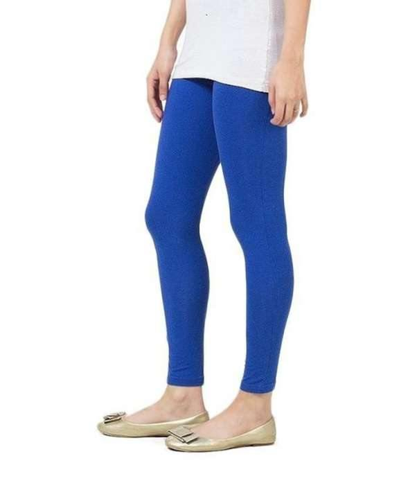 Blue Cotton Tights for Women