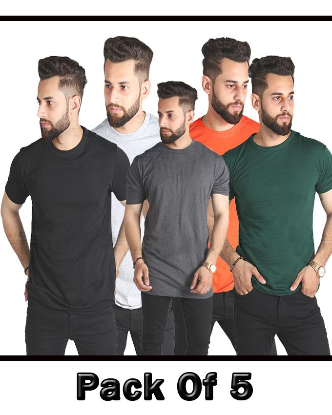 Pack Of 5 Half Sleeve T Shirts For Men - Paksa Pk