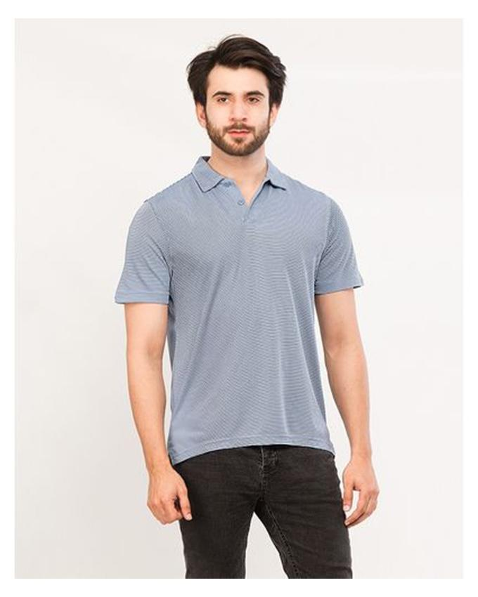 Blue Lining Polo T-Shirt For Men - Paksa Pk