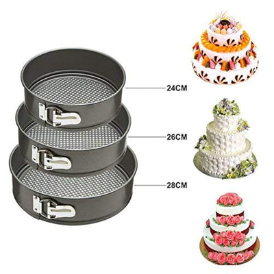 Set of 3 Round Shape Cake Mould - Paksa Pk