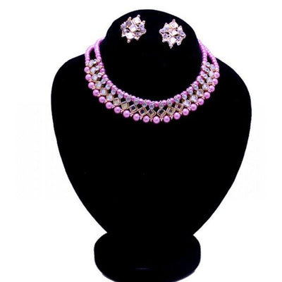 Pack of 2 Pink Jewelry Set & Perfume For Women - Paksa Pk