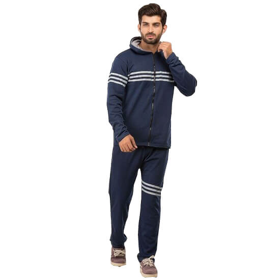 Navy Blue Track Suit For Men