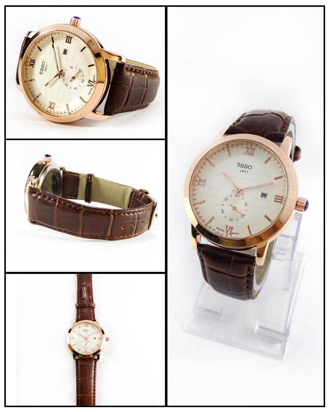 Brown Leather Strap Watch For Men - ABZ-5663 - Paksa Pk