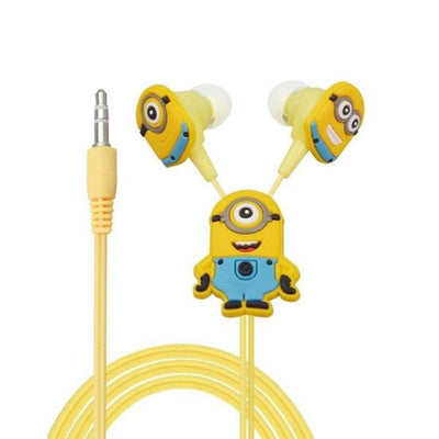 Minion Rush Ear Phones Cartoon Hand free Yellow - Paksa Pk