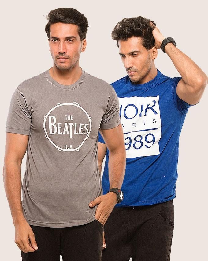 Pack of 2 Printed T-shirt For Men