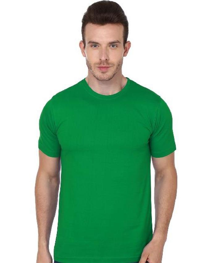 Green Round Neck T-Shirt For Men