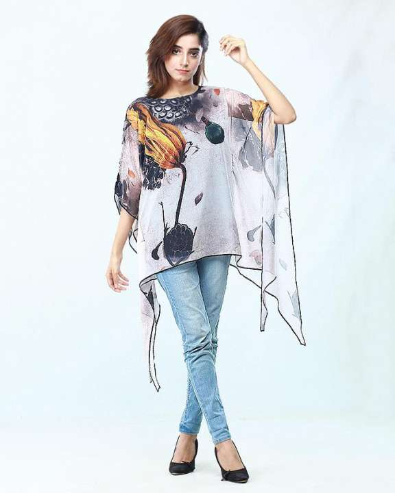 Printed Poncho For Women