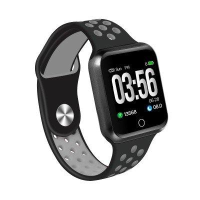 F8 Smartwatch 42mm Waterproof for Android & iOS Black-Grey - Paksa Pk