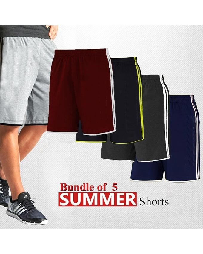 Pack of 5 Summer Shorts For Men