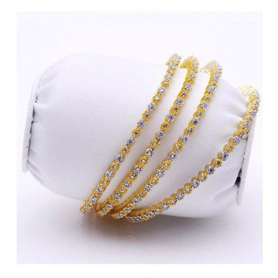 Pack of 4 Golden Metal Bangles Set For Women - Paksa Pk