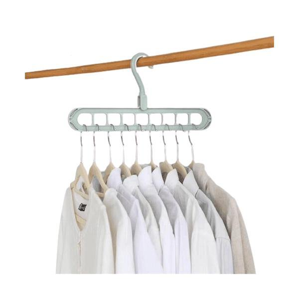 Clothes Hanger Folding Hook With 9 Hole