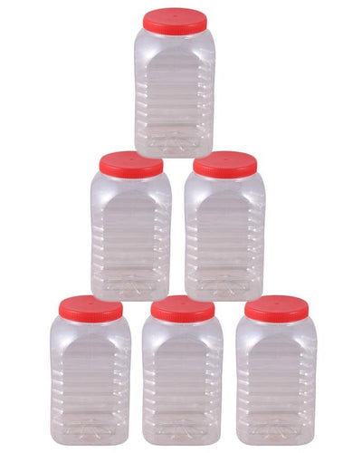 Spice Jars and Storage Containers Pack of 6-Red - Paksa Pk