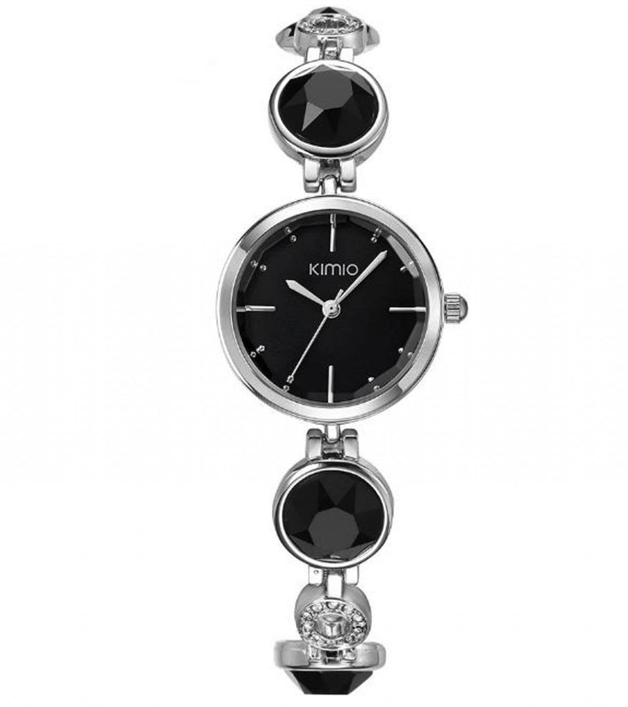 KIMIO Fashion Crystal Diamond Bracelet Watch for Girls-Black - Paksa Pk