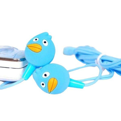 Angry Bird Ear Phones Cartoon Hand free Blue - Paksa Pk