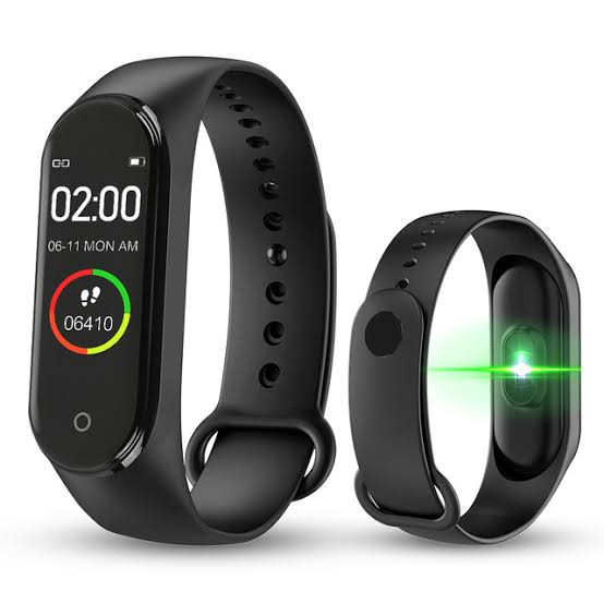 M4 Smart Fitness Watch Tracker Sports Bracelet Heart Rate Blood Pressure with Android & iOS Support - Paksa Pk