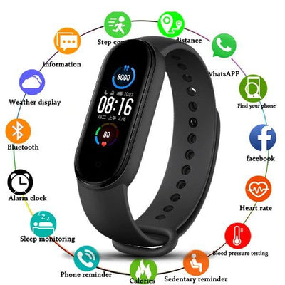 M5 Smart Band in Black - Paksa Pk