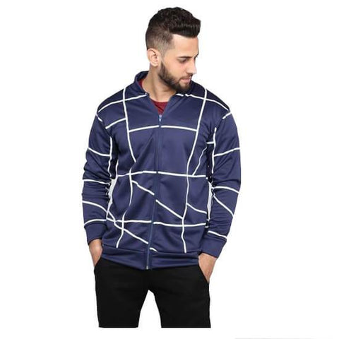 Navy Blue Lining Jacket For Men - Paksa Pk