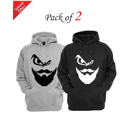 Pack Of 2 Printed Hoodies For Men - Paksa Pk