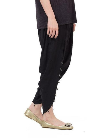 Black Cotton Tulip Shalwar For Women - Paksa Pk