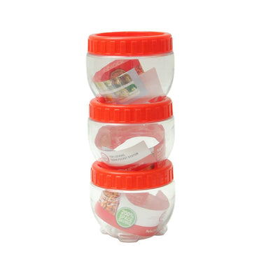 Pack Of 3 - Red Interlock Container - Paksa Pk