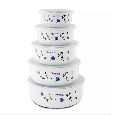 Food Storage Container Bowls with Lids, Set of 5 - Paksa Pk