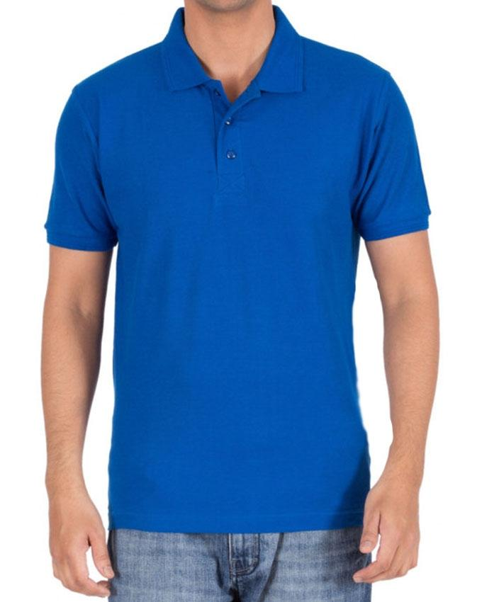 Royal Blue Cotton Plain Polo T-Shirt For Men - Paksa Pk