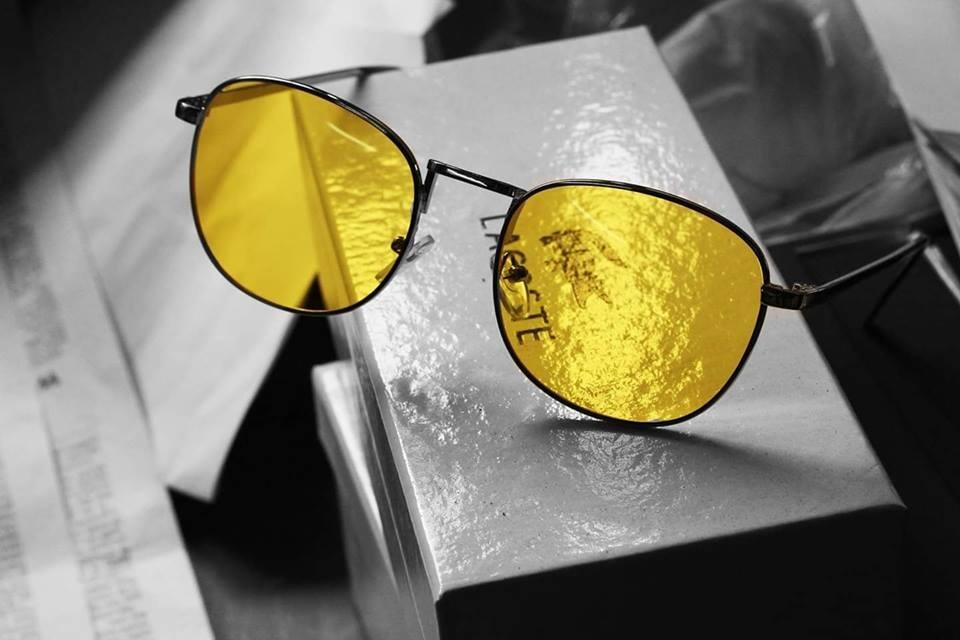 Yellow Lens With Black Frame Sun Glasses For Men - Paksa Pk