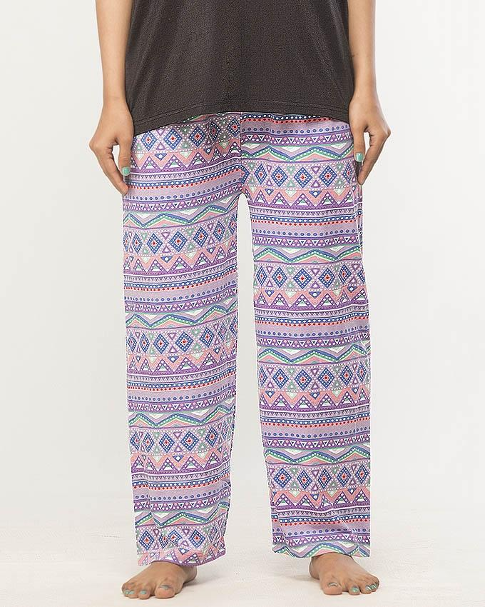 Multicolor Designer Pajama For Women - Paksa Pk
