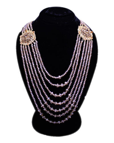 KC Crystal Beeds Rani Mala Broach Necklace for Women - Paksa Pk